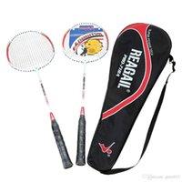 Wholesale Lightweight Badminton Racquet Aluminium Alloy Training Badminton Racket with Carry Bag Sport Equipment Durable