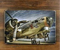 aircraft paint - The large aircraft take off creative posters cm Decorative sheet metal painting furnishing articles crafts and gift