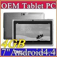 7 pouces Q88 Allwinner A33 Quad Core Tablet PC 4Go 512MB 1.5GHz Android 4.4 Comprimés double Caméras C-7PB