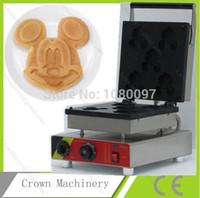 Wholesale electric Mickey Mouse shape waffle making machine waffle maker