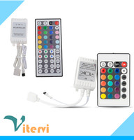 Wholesale 24Keys Keys LED Strip light IR Remote RGB Dimmer SMD Strip light Controller RGB colour module lamp