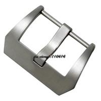 18mm / 20mm / 22mm / 24mm / 26mm nuevos de acero inoxidable de alta calidad cepillado pulido bandas sólidas hebilla cierres de cinturones Correa para la banda de reloj PAN