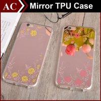 Роскошные кадров Гальваническим Зеркало Secret Garden для iPhone 5 SE 6 6S Plus Акрил + мягкая TPU крышка Shell цветок свободной DHL