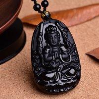 angels products - Thousand Hand A Buddism Godness Guanyin Pendeloque Cut Concise Fashion Buddha Pendeloque Cut New Product Black Obsidian Pendant Patron Saint
