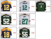 Wholesale Men s Authentic Elited Football Jerseys Rodgers Lacy Cobb Football Jersey Size M L XL XXL XXXL Mix Order