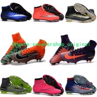 Wholesale 2017 New original soccer cleats mercurial superfly cr7 blue soccer shoes boots gold football boots mens Mercurial x EA SPORTS best quality