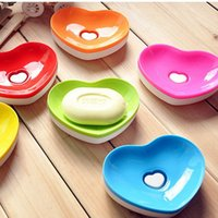 apparel cleaning - Cute Heart shaped Bathroom Shower Multifunctional Soap Box Drain and Clean Soap Dishes Kitchen Sink Sponge Holder BZ176 lt no tracking