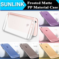 pp plastic case - 0 mm Ultra Thin Frosted Matte PP Case High Quality Transparent Back Cover for iPhone s Plus Solid Color