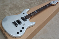 Wholesale brand new fret Mahogany body with fretboard inlay electric guitar in silver color