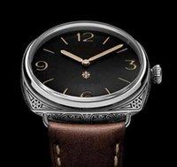 arts rubber watch - 47MM Firenze MANUAL HAND WINDING MECHANICAL SAPPHIRE P ART CARVEMEN WATCH WRISTWATCH Days Acciaio limited edition
