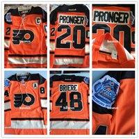 Wholesale Philadelphia Flyers Hockey Jerseys Men Chris Pronger Winter Classic Embroidery C Patch Logos Danny Briere Winter Classic E
