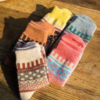 Wholesale New Women s Rabbit Wool Socks Wool Socks Autumn and Winter Wool Socks Retro Socks