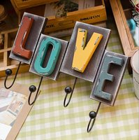 american groceries - European and American style groceries letters LOVE wall hook with a hook Creative Home Decoration C0206