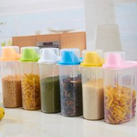 Wholesale New Plastic Food Storage Lattices Sealed Crisper Grains Tank Storage Kitchen Sorting Food Storage Box Container