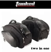 Wholesale Tanked Racing rain proof bag high quality mulitifunction two bags as a set with extra waterproof covers black for motorcycle or shoulders