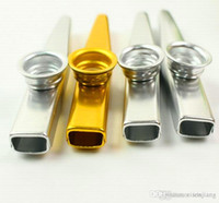 Wholesale Plated Metal Kazoo Mouth Flute Silver Including Retail Tube Box