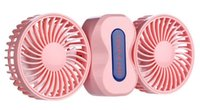 Wholesale Mini Portable Couple Foldable Fan Air Cleaning Cooling Degree Rotation in Third Gear Adjustment ABS Electronic Components mAh