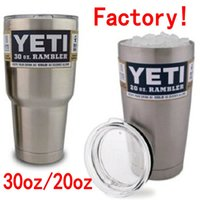 steel water bottles - 304 Stainless Steel YETI Cooler Cups Insulation Rambler Tumbler Cup oz oz ml ml Bilayer Beer Mug Tumblerful Factory Produce