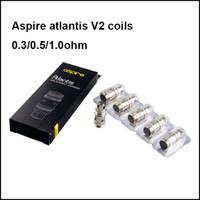 Wholesale 100 Authentic Aspire atlantis v2 coil ohm ohm ohm coils Aspire atlantis replacement coils head