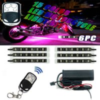 accent engine - 10pc Expandable Color Mini SMD LED Motorcycle neon Lights Kit w Remote LEDs Underbody Accent Engine Glow Lighting M11163