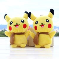 Wholesale New Pikachu Pocket Monsters PokéMon Go Toys Poke Center Super Master Poke Novelty Game Plush keychain Pendant Stuffed keyring key chain CM
