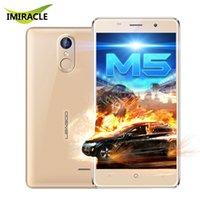 Wholesale New arriveal Leagoo M5 Shockproof Fingerprint ID Android Smart Phone MTK6580A Quad Core G G Full Metal Frame G WCDMA Mobile Phone
