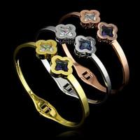 Wholesale new jewelry women s men Style L Titanium Steel Bracelet Lovers bracelet silver rose gold bangle