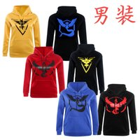 Wholesale Youth Poke Go Hoodies Poke Sweatshirts Pullover Men Fashion Pikachu Jacket Poke Ball Coat Casual Pocket Monster Outwear Poke Jumpers