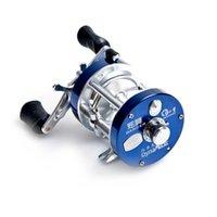 Wholesale Full Metal BB Ball Bearings Right Hand Bait Casting Drum Wheel Boat Sea Fishing Reel Horizontal XW Black Blue H11465