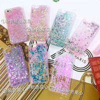 Wholesale Hot Glitter stars dynamic liquid quicksand Newest luxury Case Phone Shell PC TPU All inclusive soft Back Cover for iPhone se s plus G