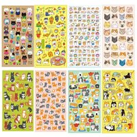 Wholesale 4 Dog and cat sticker Japanese Doge Kawaii decorative tape for notebook scrapbooking Stationery school supplies