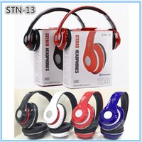 Wholesale STN Stereo Wireless Headphone Headsets Noise cancelling Bluetooth DJ Headphones STN13 High Performance over Headphones With FM TF MIC