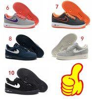 Wholesale On Sale AF Running Shoes Men Women Fouce One Leather Sports Boots Retro colors Sneakers Original Casual Flat Shoes