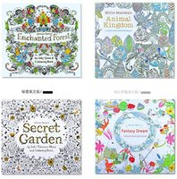 Wholesale New Baby secret garden coloring book painting drawing book Pages Animal Kingdom Enchanted Forest Relieve Stress For Children Adult