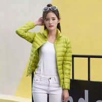Wholesale 2016 new women super light duck down filler stand collar warm winter jacket purple color for OEM bulk order