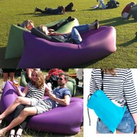 Wholesale Fast Inflatable Lamzac hangout Air Sleep Camping Bed KAISR Beach Sofa Lounge Only Need Ten Seconds Sleeping bags