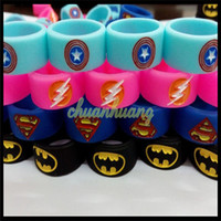 batman silicone - DIY Vape Bands Silicone Rings with Superman Batman Flash Captain America Logo Colorful Rubber Rings fit RDA RTA Atomizer Mechanical Mods