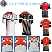 Wholesale thai qulity Palestinian home away men red black Palestine Nation Team white football shirt Soccer Jerseys Survment