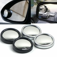 automobile blind spot mirrors - Automobile Blind Spot Convex Mirror Car Rearview Round Mirror Security Assistance degree Wide Angle Parking Assist Mirror