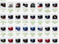 Wholesale 100pcs basse ball hats from all team s one black u have sandiego texas mix all teams