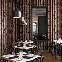 bark wallpaper - The new stakes trees personalized tree bark wallpaper pattern restaurant retro imitation wood wallpaper modern Chinese wallpaper