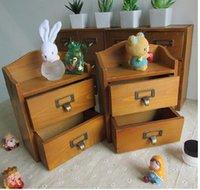 Wholesale 2pcs Drawer cm Quality Wooden Storage Drawers Sundries Cosmetic Medicine Toys Storage Organization Box Case Bins Cabinets