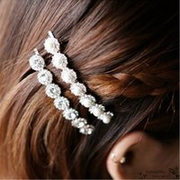 acrylic hair clip with pearl - New Arrival Hair Clips With Rhinestone Pearls Barrettes Exquisite Ornament Jewelry Girls Fashion Women Hair Jewelry Accessory