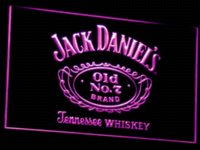 Wholesale a048 Jack Daniel s Whiskey Bar Beer LED Neon Sign Plastic Crafts colors sent in hrs
