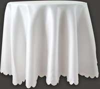 Wholesale customized size Rose lace Round table cloth Snow white satin fabric party wedding home decoration