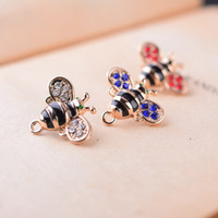 bee brooch - Fashion insects brooch leisure bee collar pin shirt neckline brooch men and women general multi color diamond collar pin