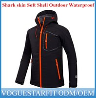 Wholesale Men s Shark skin Soft Shell Outdoor Military Tactical Hiking Jacket Waterproof wind proof clothing soft shell soft shell jacket ouc001 DHL