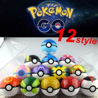 ball plastics - Zorn toys Pokémon go plastic poke ball Greate ball Ultra ball Master ball style High imitation cm Pikachu