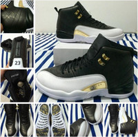 red wing shoes - RETRO OVO Basketball Shoes Retro s Wings Sports Shoe Retro XII Master Men Sneakers the Black gold color Athletics Boots