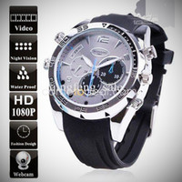 analog digital recorder - topsale GB HD P PC high quality digital night vision hidden spy camera men GB wrist watch